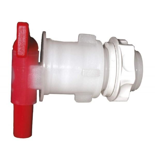 Ablaufhahn PVC mit Gegenmutter