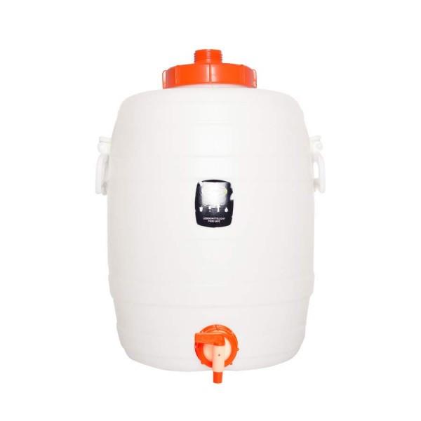 Speidel Kunststoff Gärbehälter rund mit Deckel und Auslaufhahn - 30 l