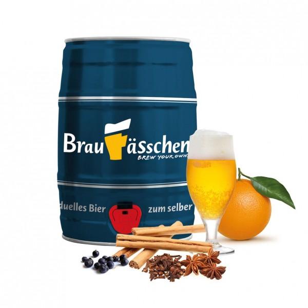 Braufässchen Weihnachtsbier- 5 Liter Fass zum Selber Brauen