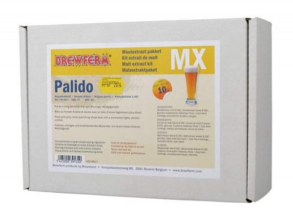 Brewferm Braupaket PALIDO für 10 Liter