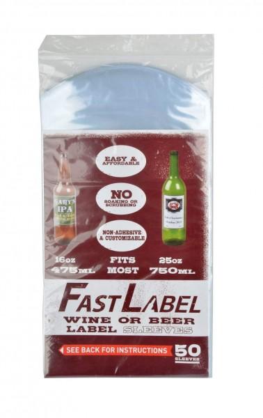FastLabel Bieretikettierung für 750 ml Flaschen - 50 Stück