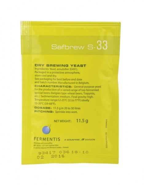 Fermentis Trockenhefe SafAle S-33 - 11,5 g