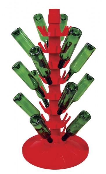 Rotierender Abtropfständer Kunststoff für 81 Flaschen