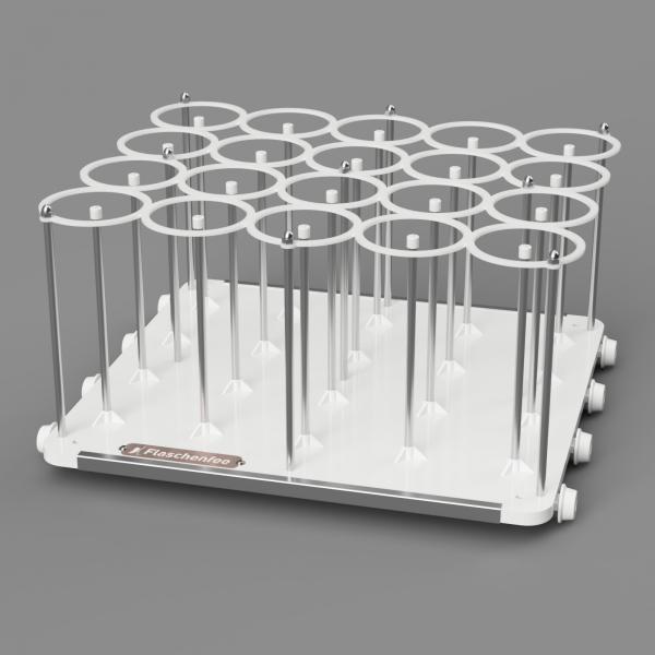 Flaschenfee - Geschirrspülergestell für 20, 0,7 - 1 L Flaschen