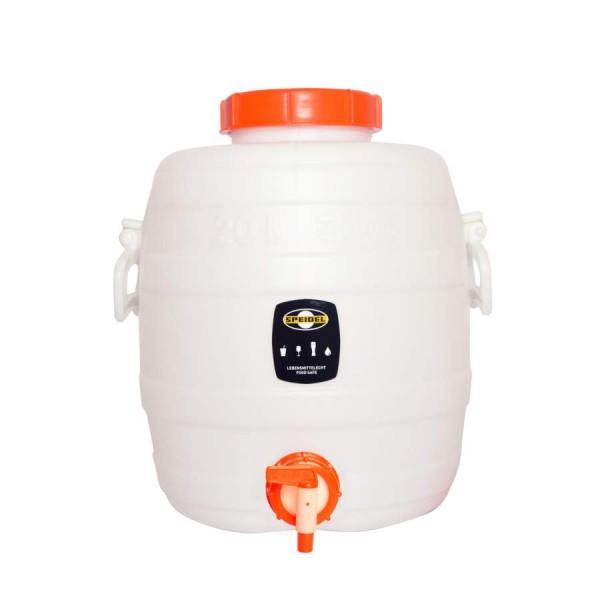 Speidel Kunststoff Gärbehälter rund mit Deckel und Auslaufhahn - 20 l