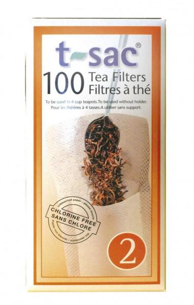 Teefilter T-SAC Nr. 2 - 100 stuck