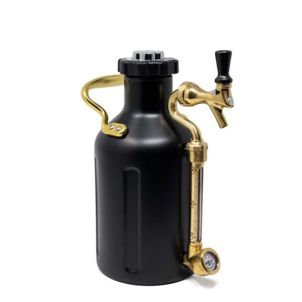 uKeg mattschwarzer Syphon mit Zapfvorrichtung - 1,9 Liter Fassungsvermögen