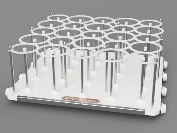 Flaschenfee - Geschirrspülergestell für 25, 0,3 - 0,5 L Flaschen