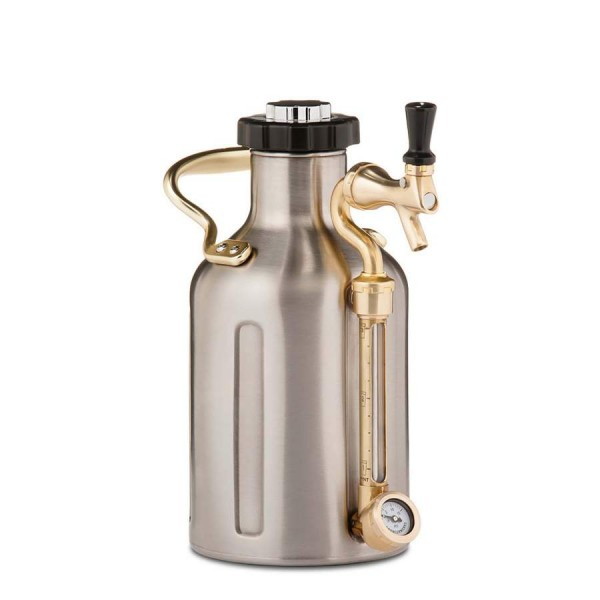 uKeg Edelstahl Syphon mit Zapfvorrichtung - 1,9 Liter Fassungsvermögen