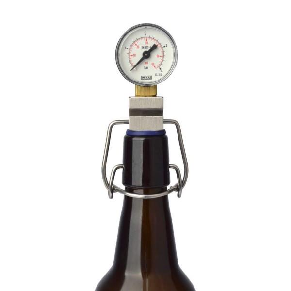 CO2 Messgerät für Bügelverschlussflaschen